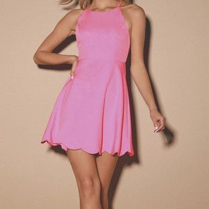LuLu's Play on Curves scalloped edge dress